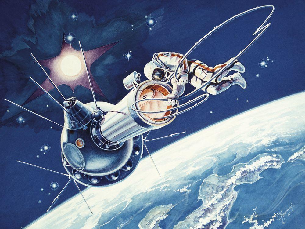 Роскосмос опубликовал бортовой журнал Леонова о первом выходе в открытый космос и полетные документы корабля «Восход-2» - 2
