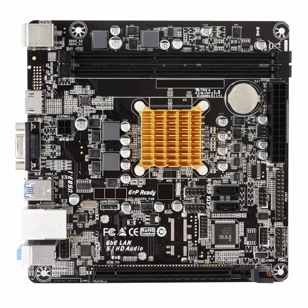 На плате Biostar A68N-2100K установлена однокристальная система AMD E1-6010