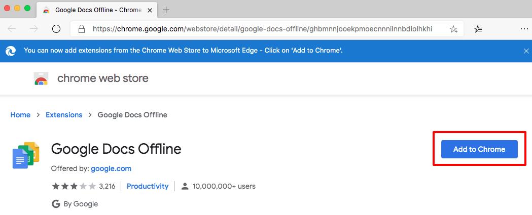 Как включить Google docs offline в новом Microsoft Edge - 1