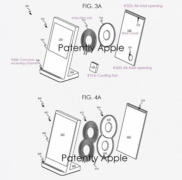 Apple патентует беспроводную зарядку, заряжающую устройства в нескольких положениях