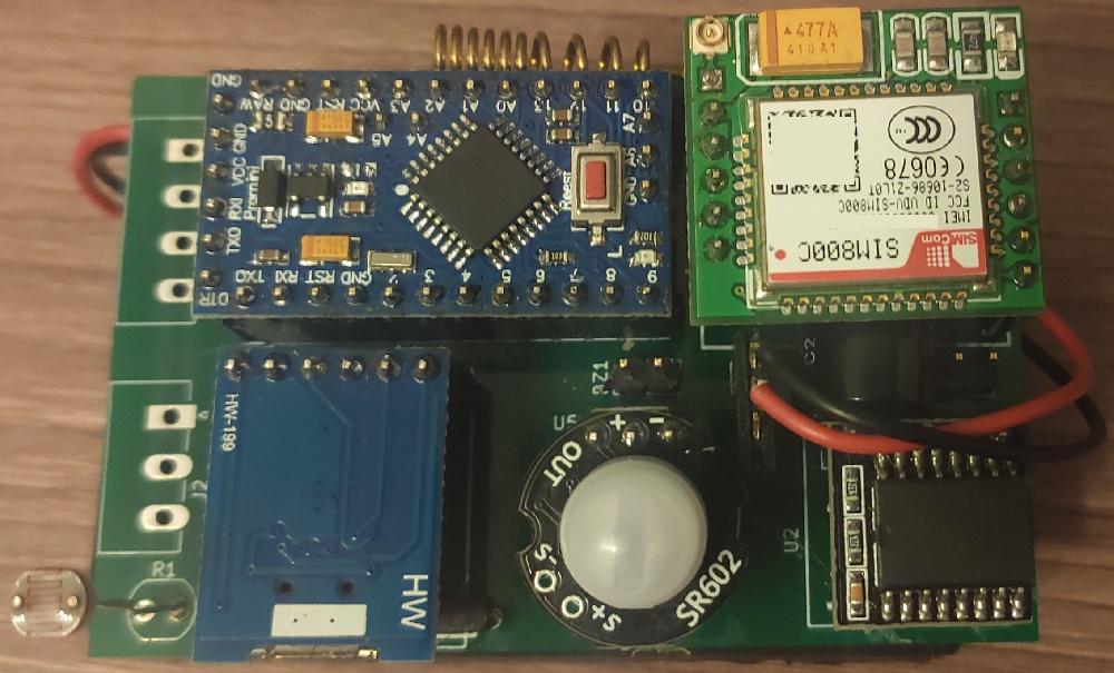 Автономная охранная система на Arduino + GSM - 1