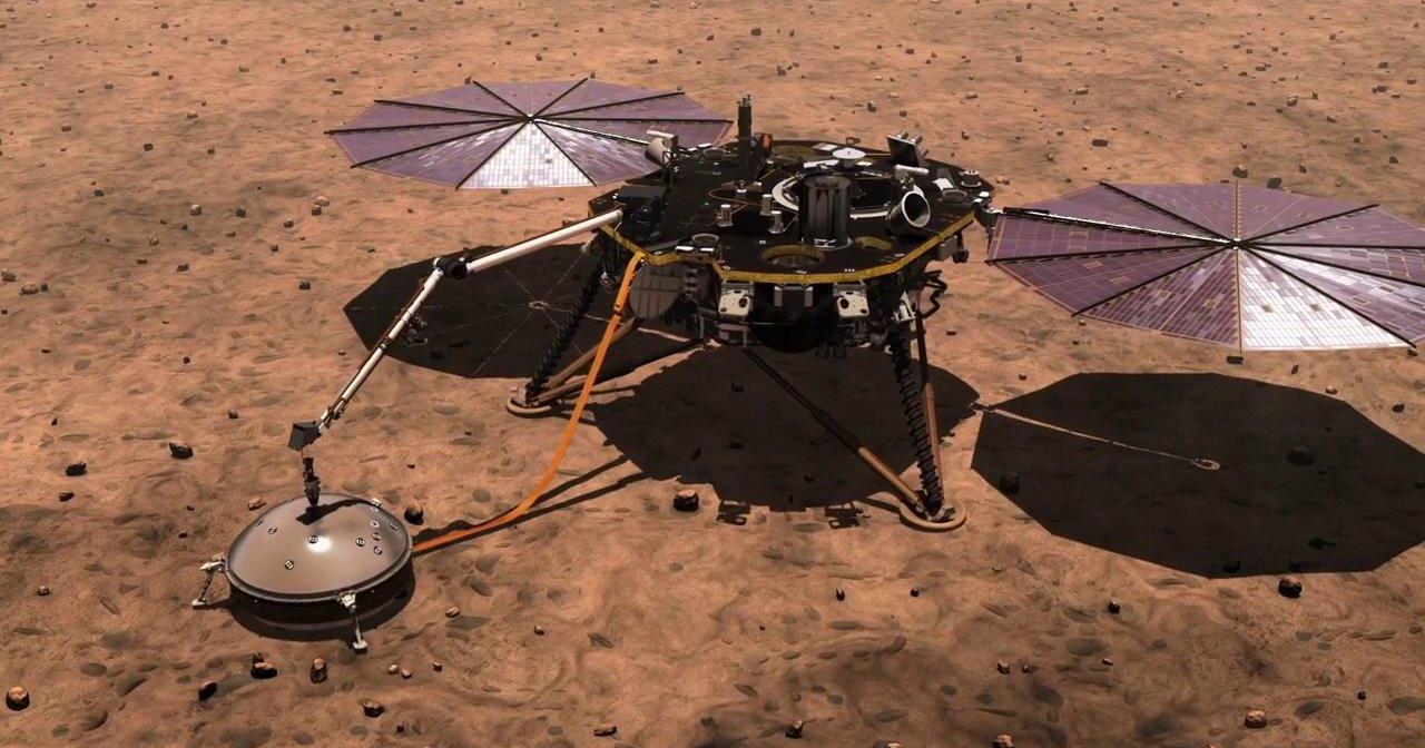 """Марсианский зонд придавил """"крота"""" лопатой"""