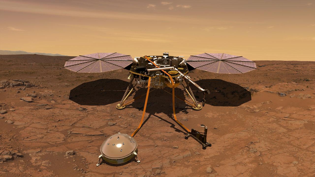 Учёные NASA попытались освободить зонд InSight, ударив его лопатой - 1