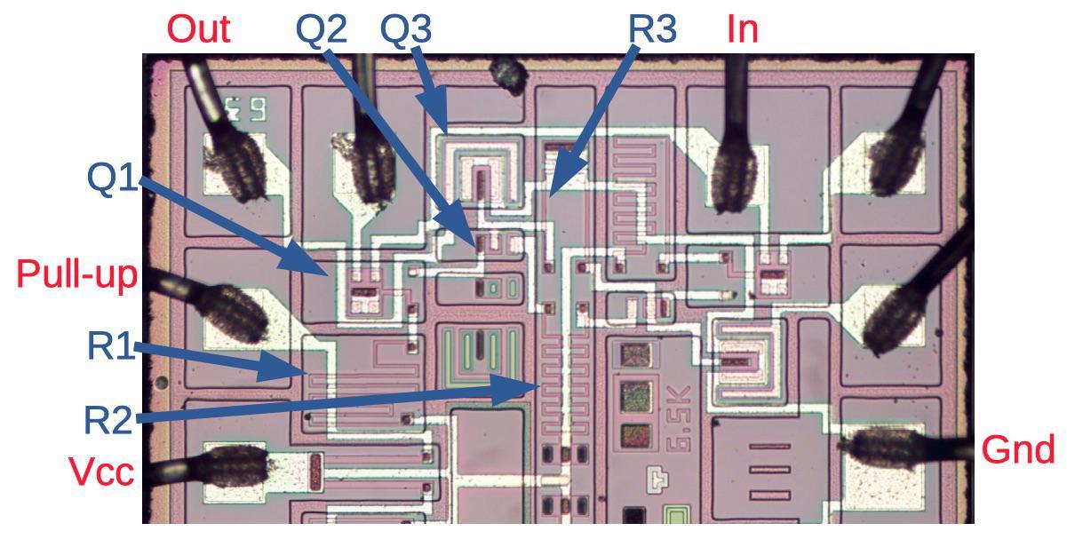 Заглядываем внутрь советской интегральной схемы с ТТЛ - 10