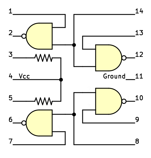 Заглядываем внутрь советской интегральной схемы с ТТЛ - 5