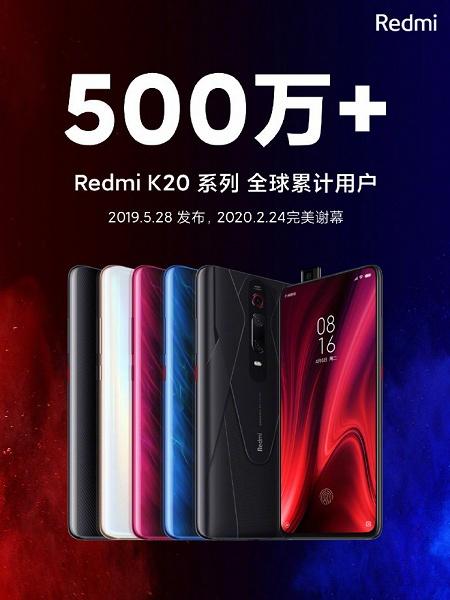 Это успех. Продажи смартфонов Redmi K20 превысили отметку в 5 миллионов штук