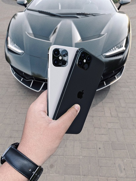 Реалистичные изображения новых смартфонов линейки iPhone 12
