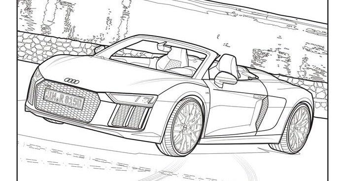 Audi и Mercedes-Benz выпустили раскраски для тех, кто на карантине