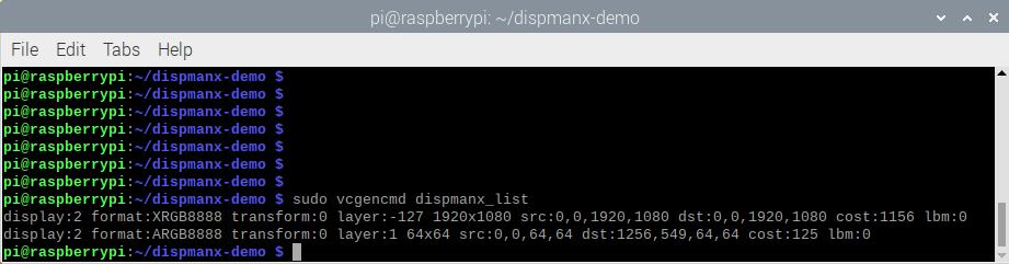 Программирование видео слоя в Raspberry Pi с использованием DispmanX API - 4
