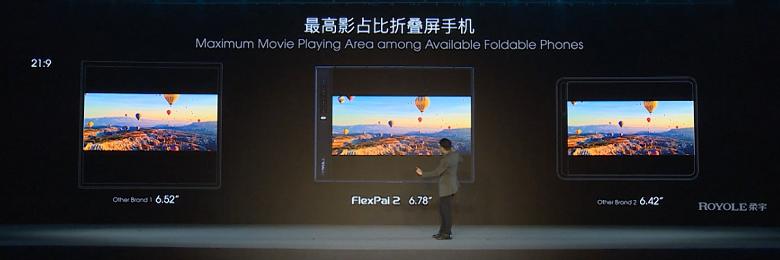 Демонстрация гибкого смартфона FlexPai 2