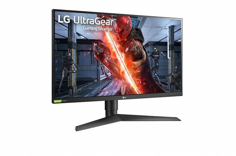Монитор LG UltraGear 27GN750 разрешением Full HD поддерживает частоту обновления 240 Гц