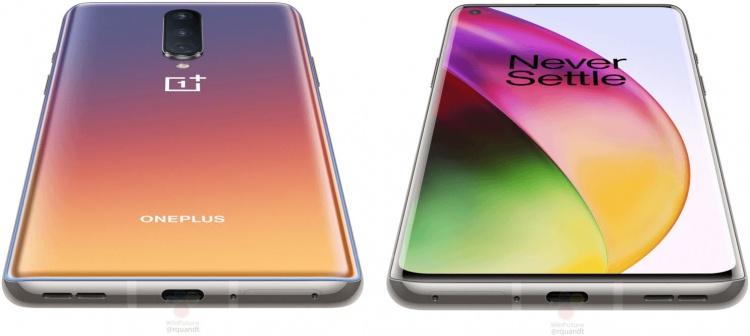 Просочились детальные изображения OnePlus 8  для прессы во всех трёх цветовых исполнениях