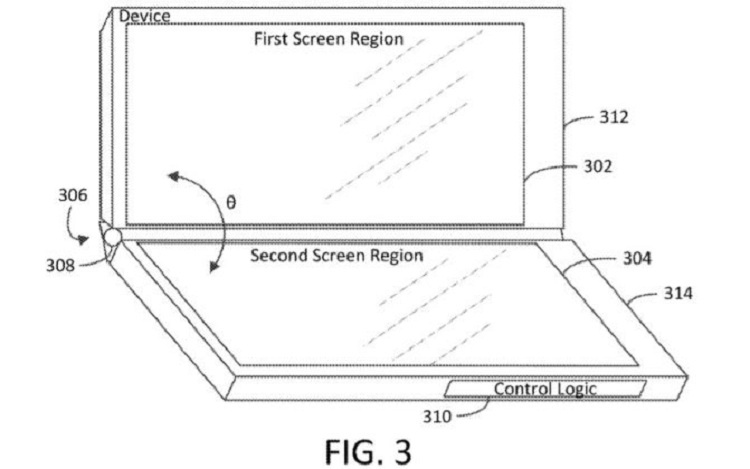 Microsoft запатентовала складное устройство с тремя экранами