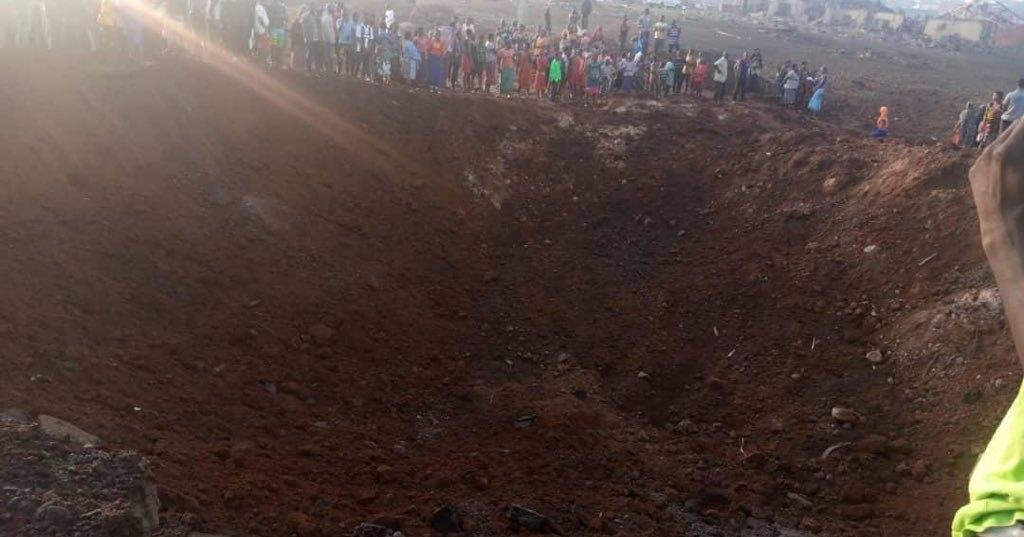 Огромный загадочный кратер внезапно образовался в Африке