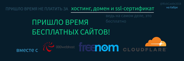 Пришло время бесплатных сайтов - 1