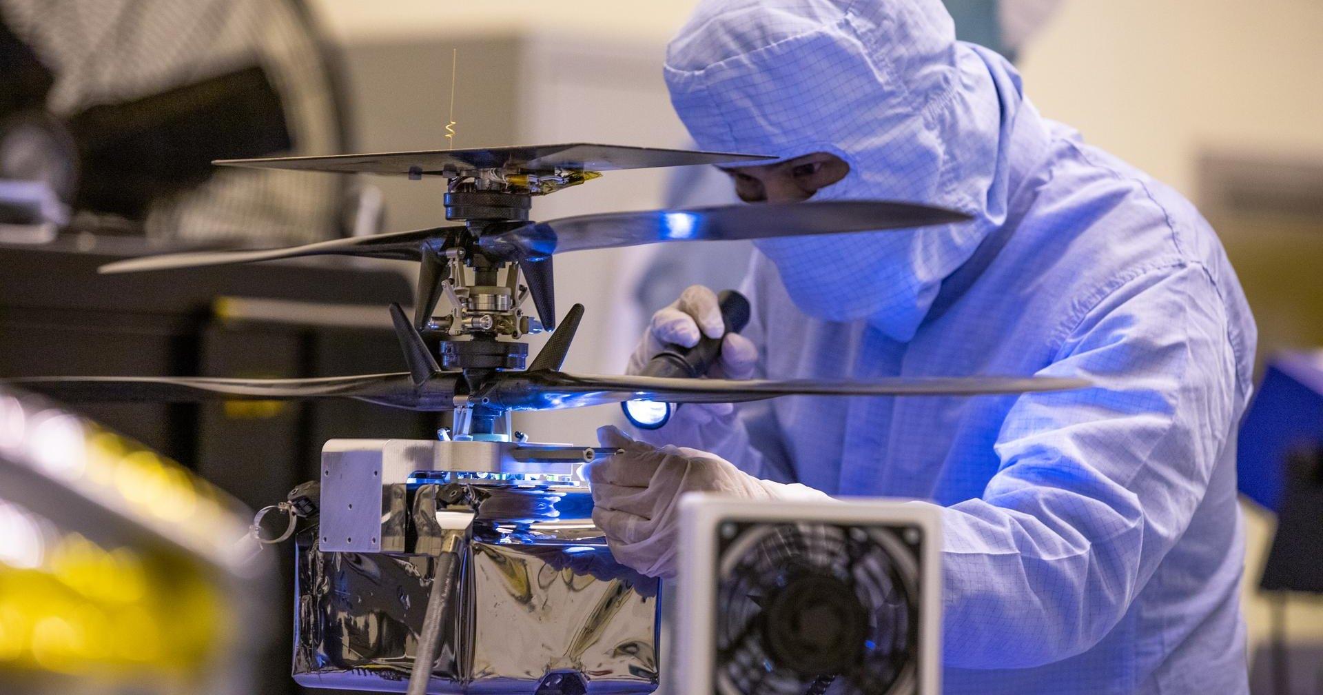 NASA провело заключительную проверку лопастей марсианского дрона