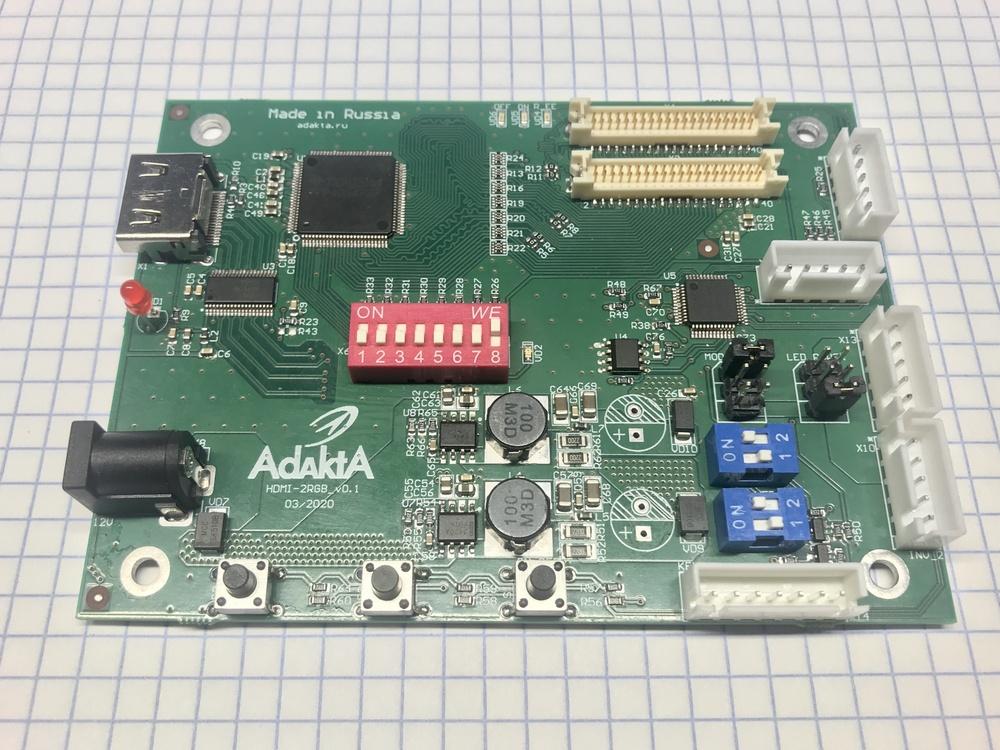 Аппаратный конвертер HDMI-RGB (18-24-bit) - 1