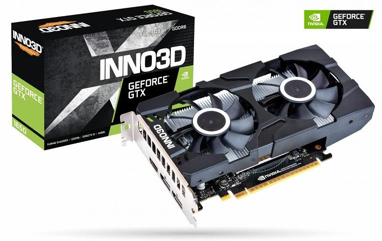 Каталог Inno3D пополнили видеокарты GeForce GTX 1650 GDDR6 Twin X2 OC и Compact