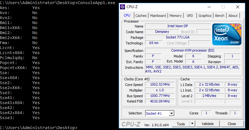 .NET Core: интринсики x86_64 на виртуальных машинах - 1