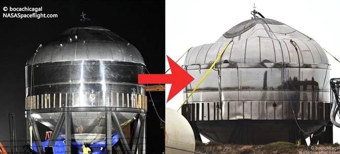 SpaceX провела испытание прототипа Starship SN3, которое закончилось разрушением его элементов - 4