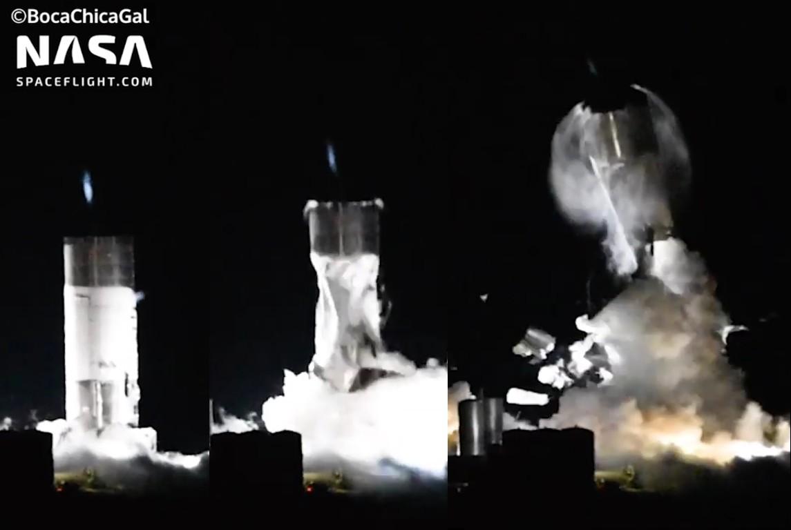 SpaceX провела испытание прототипа Starship SN3, которое закончилось разрушением его элементов - 5