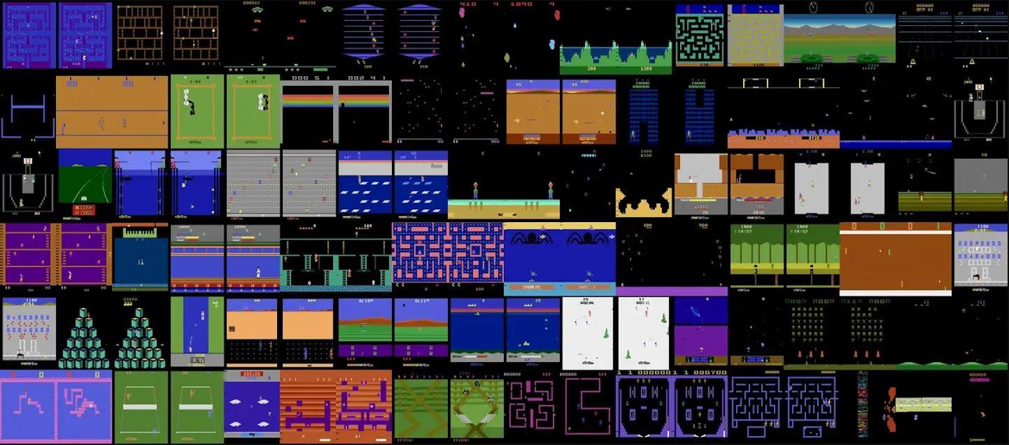 нарезка скринов игр Atari