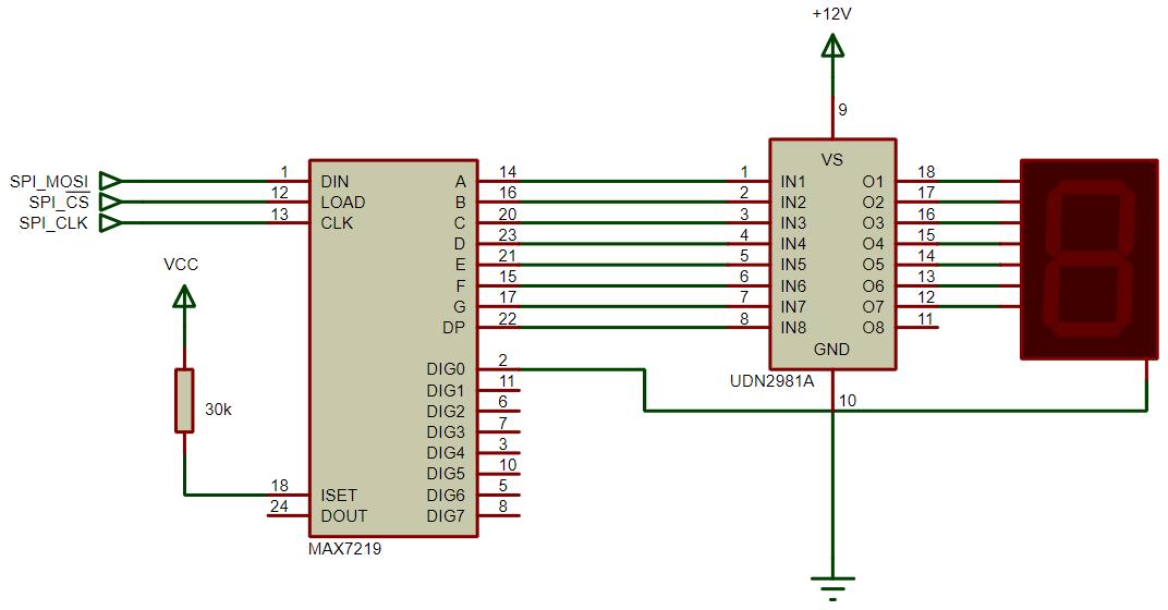 max7219 with common cathode display