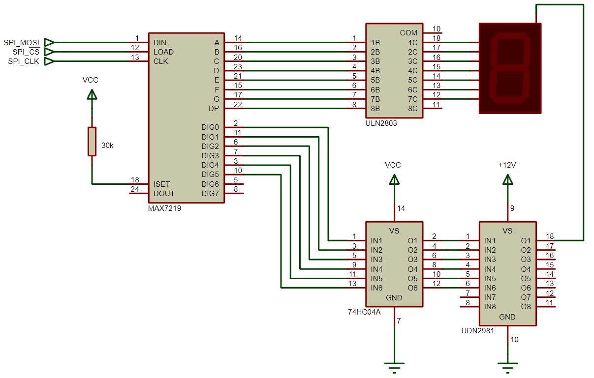 max7219 with common anode display