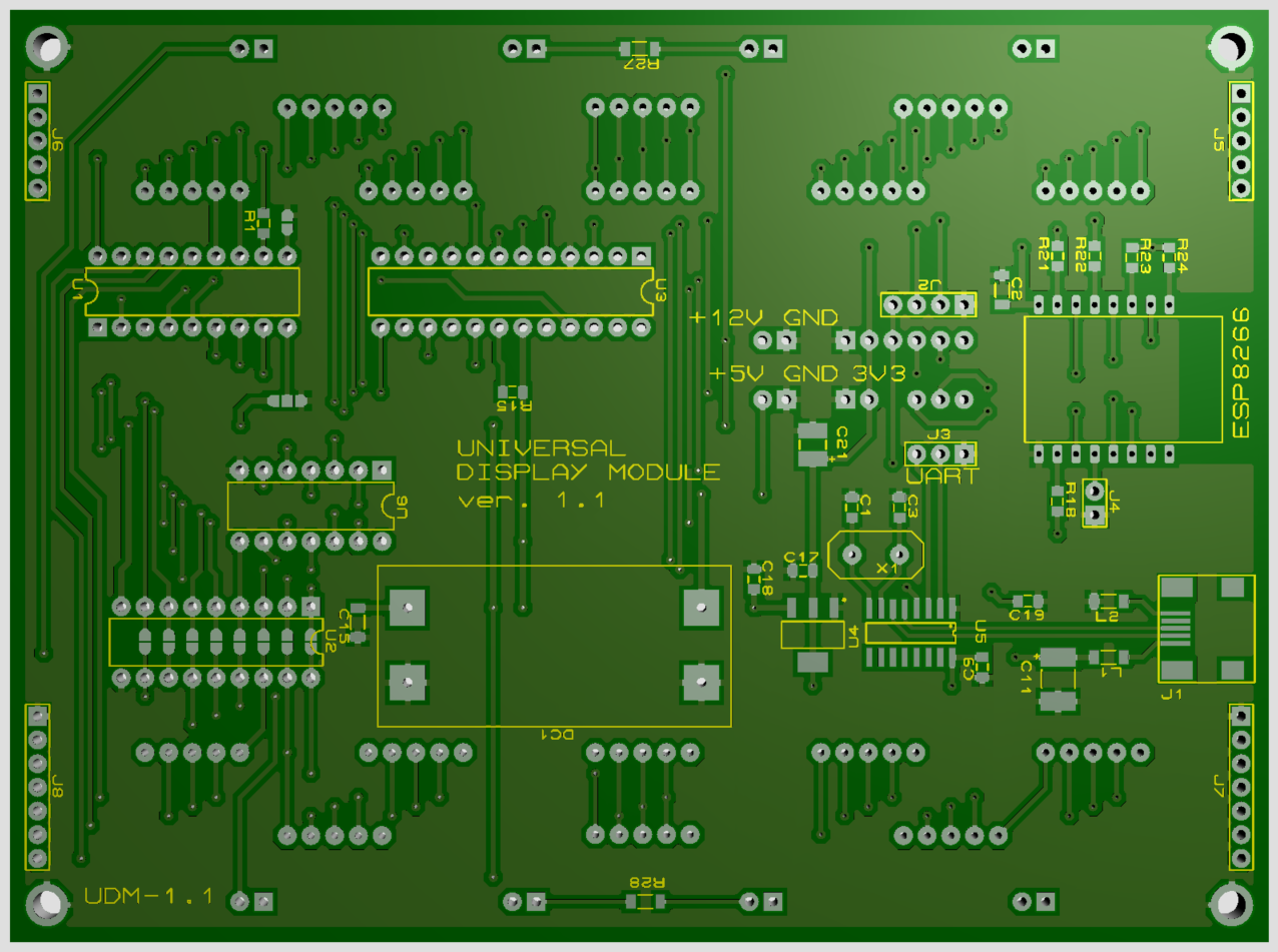 UDM PCB bottom view