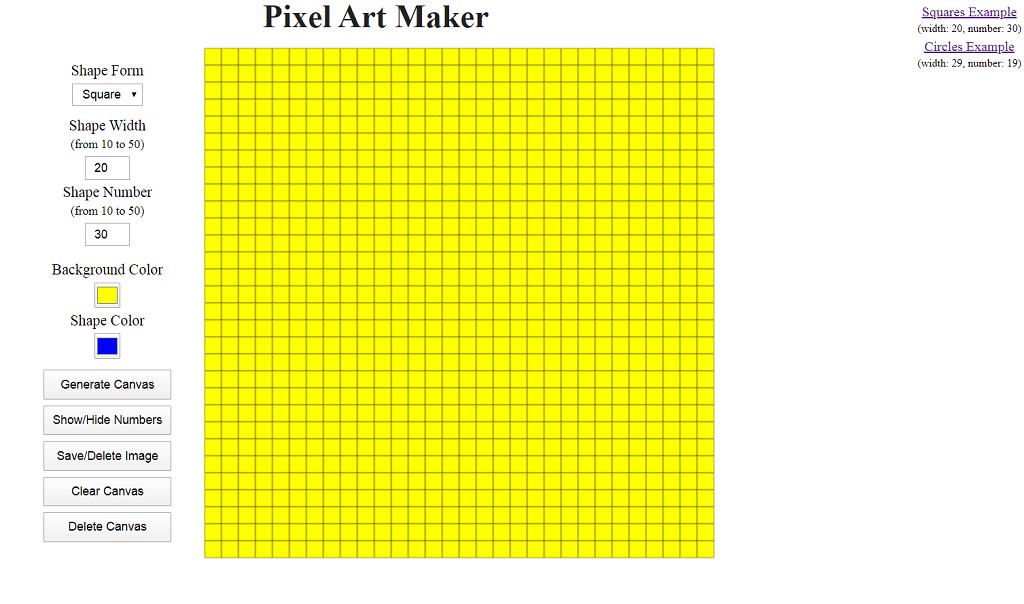 Пишем Pixel Art Maker на чистом JavaScript - 1