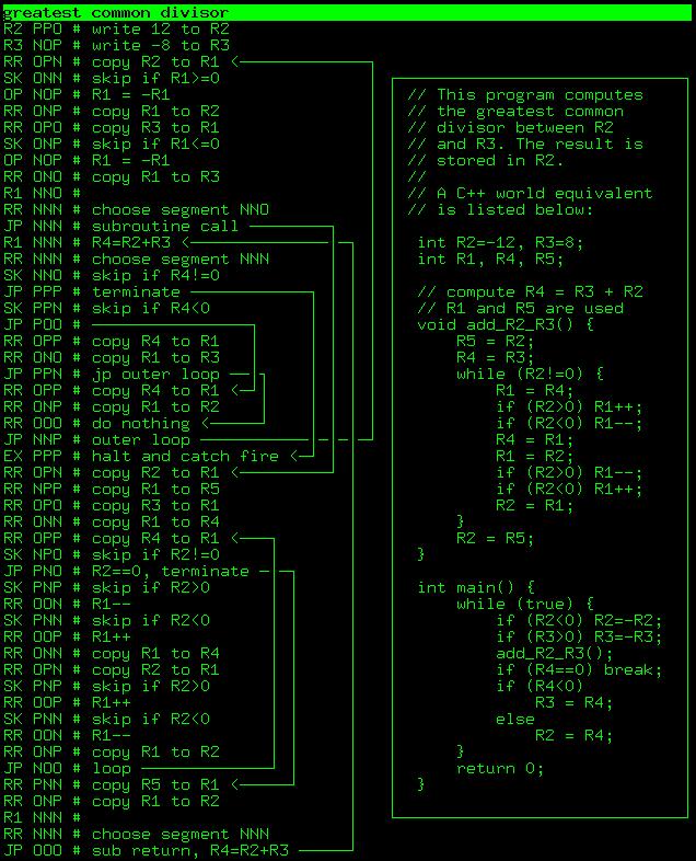 Программирование троичного вычислителя: играем с эмулятором - 9