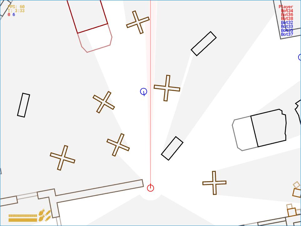 Реалистичный боевой ИИ для 2D-игры - 3