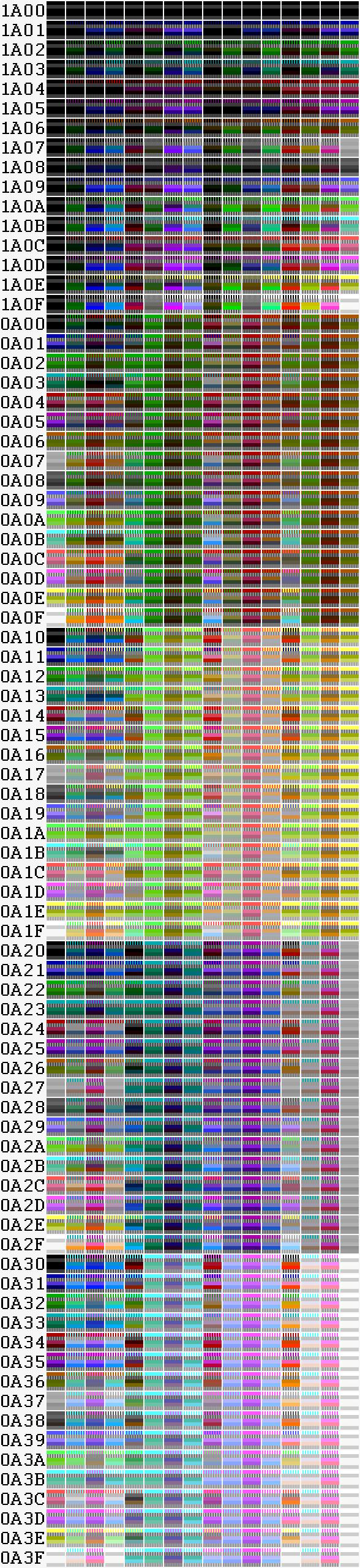 Как же всё-таки получаются 1024 цвета в CGA? И действительно ли их 1024? - 19