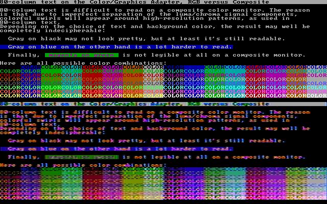Как же всё-таки получаются 1024 цвета в CGA? И действительно ли их 1024? - 8