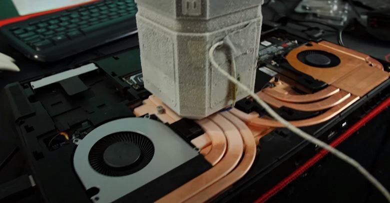 Ноутбук с 16-ядерным Ryzen 9 3950X и жидкий азот. Разгон позволяет превзойти результат Ryzen 9 3950X в настольном режиме