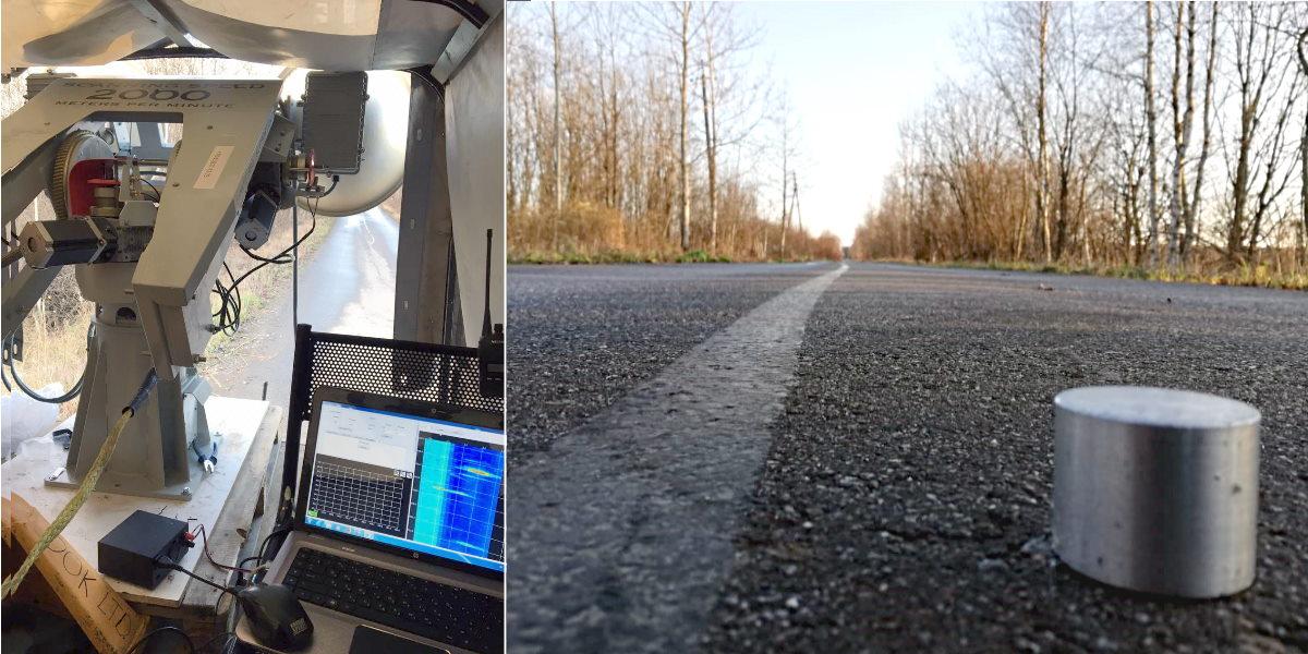 Испытание радара на 1 км участке прямой ровной автодороги