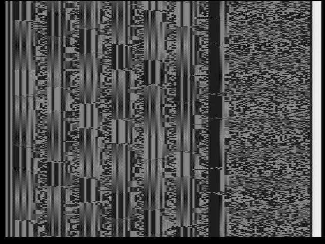 PCM сигнал на экране телевизора
