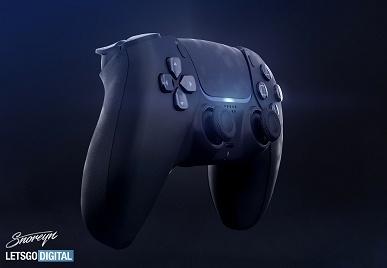 PlayStation 5 впервые показали с черным геймпадом DualSense на неофициальных рендерах
