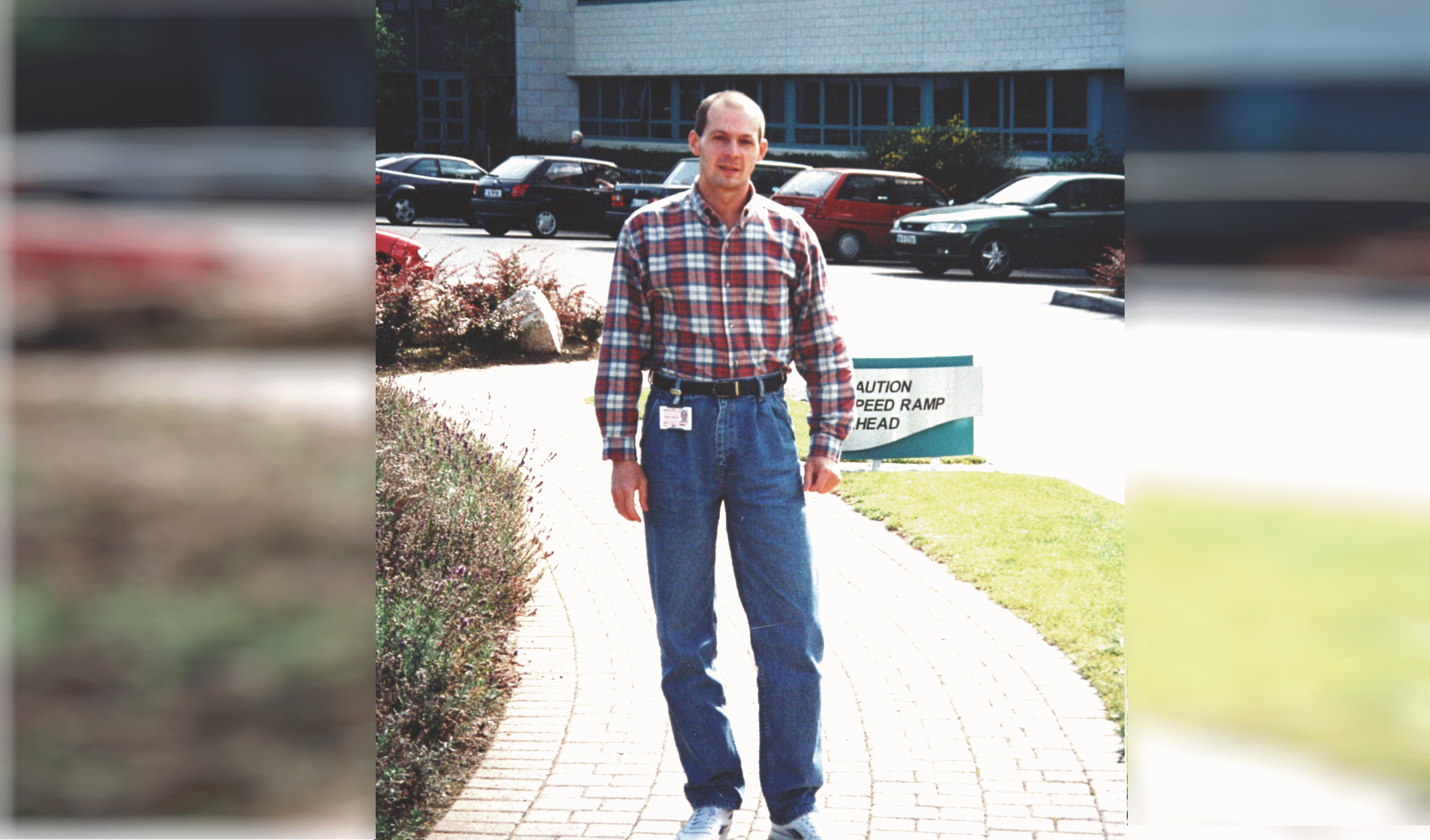 Sergey at Microsoft WPGI building, 1998