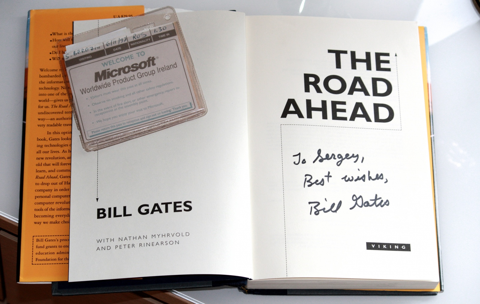 Book signed by Bill Gates, 1998
