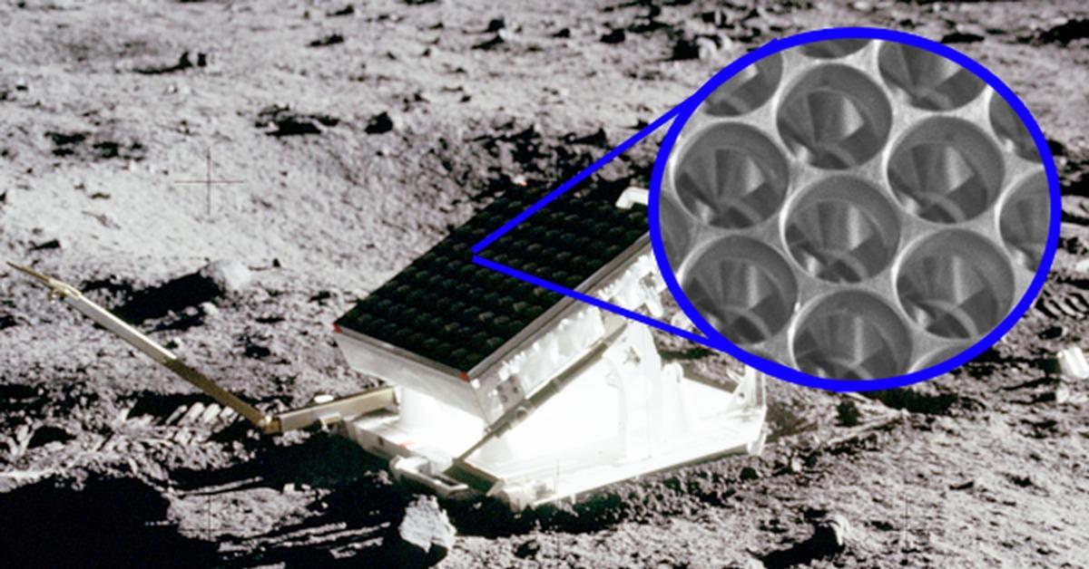 Лазерная локация Луны. Отражение света от наклонного движущегося зеркала - 1