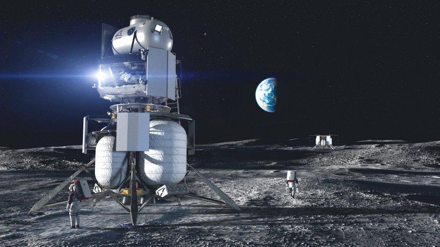 НАСА выбрало три фирмы, которые будут участвовать в программе создания корабля для посадки на Луну - 1