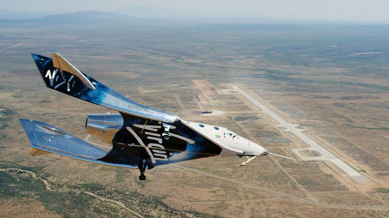 Космический корабль SpaceShipTwo совершил первый полет с посадкой на полосу Spaceport America