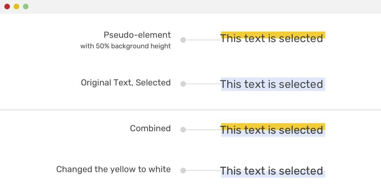 Выделение и CSS - 4
