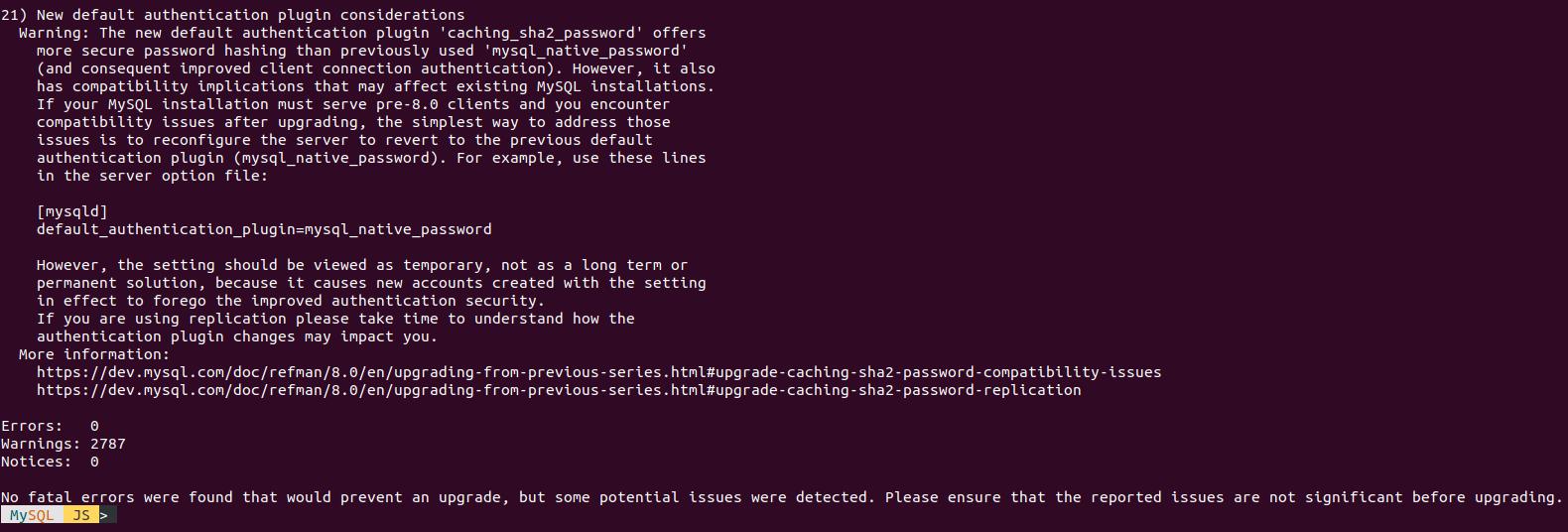 Обновление MySQL (Percona Server) с 5.7 до 8.0 - 4