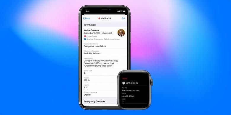 Умные часы Apple смогут спасть ещё больше жизней. Новая функция объединит Medical ID и Emergency SOS