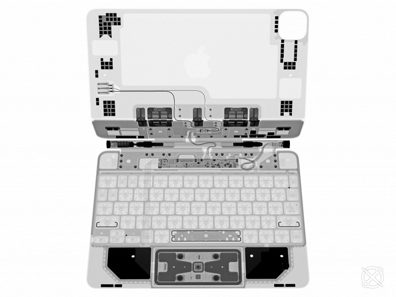 Новейший чехол Magic Keyboard для iPad Pro в рентгеновских лучах