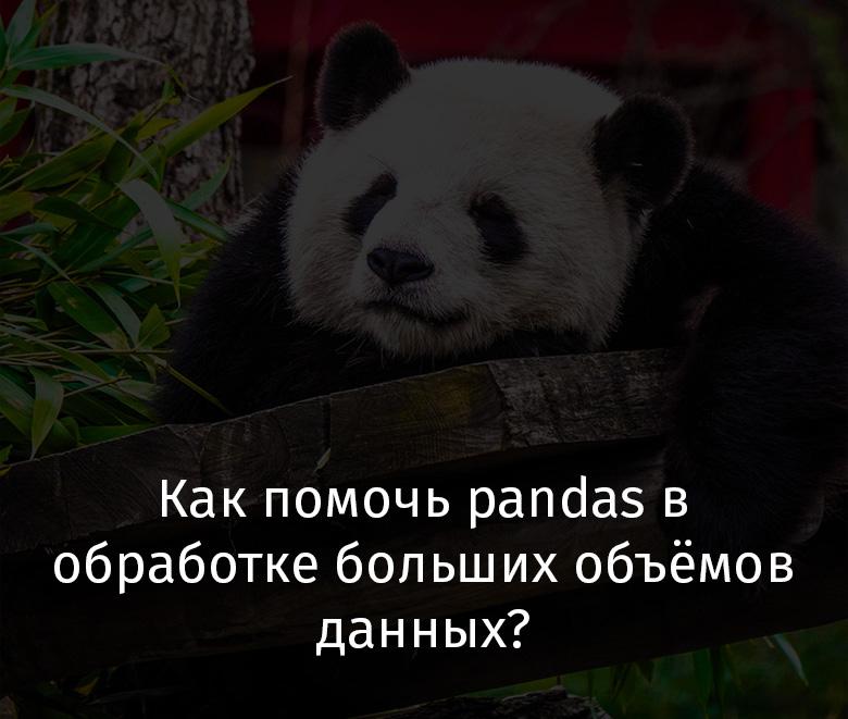 Как помочь pandas в обработке больших объёмов данных? - 1