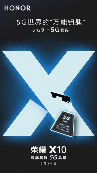 Honor X10 — это мастер-ключ в мире 5G. Аппарат будет поддерживать девять частотных диапазонов 5G