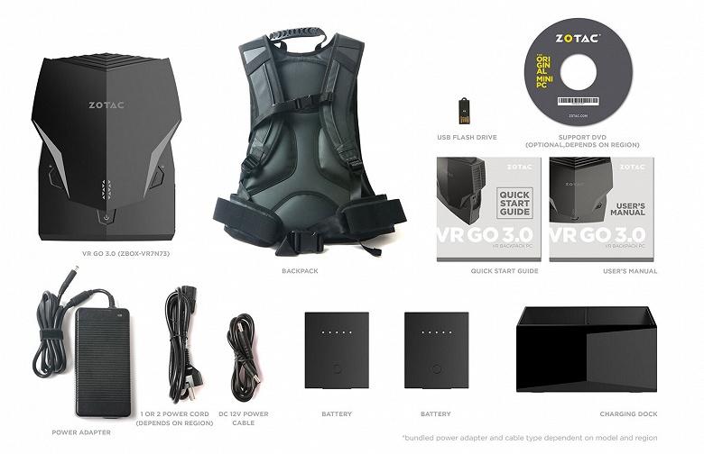 Основой ранцевого компьютера Zotac VR Go 3.0 служат процессор Intel Core i7-9750H и видеокарта Nvidia GeForce RTX 2070